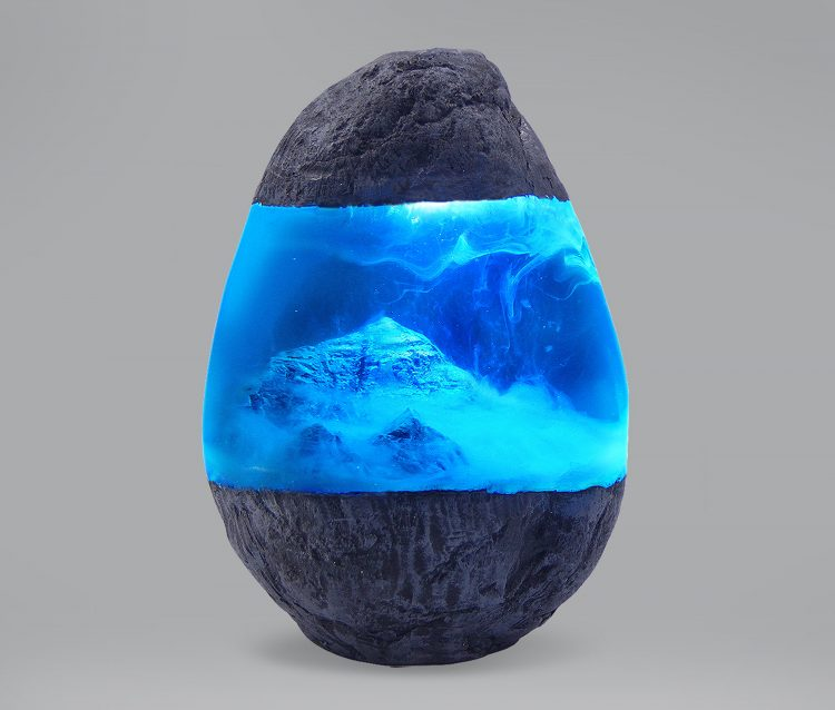 Mount Everest Resin Stone Lamp 4 - Table Lamps - iD Lights