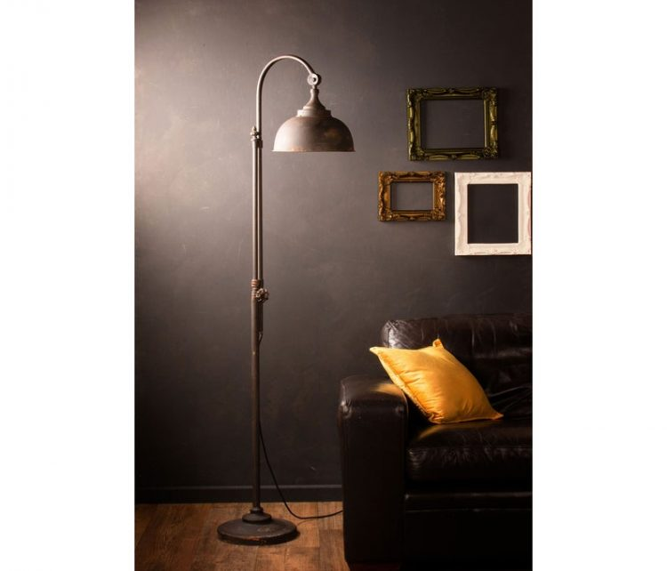 Vintage Industrial Style LED Floor Lamp Retro Iron Black Metal