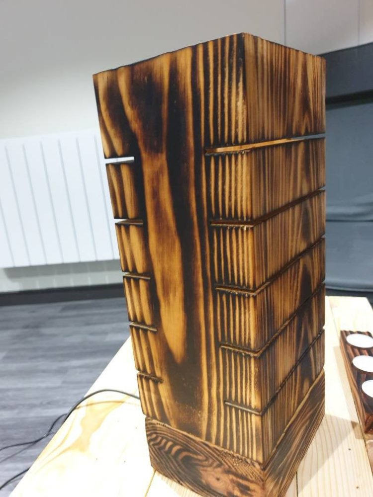 Amazing Wooden Pallet Lamp 1 - Table Lamps - iD Lights