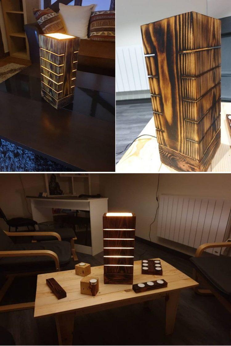 Amazing Wooden Pallet Lamp
