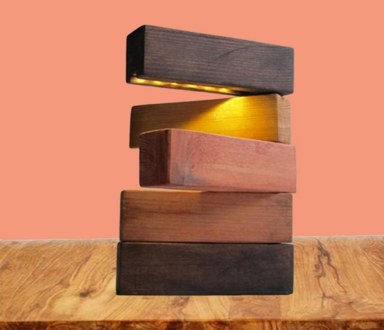 Wood Blocks Decorative Lamp