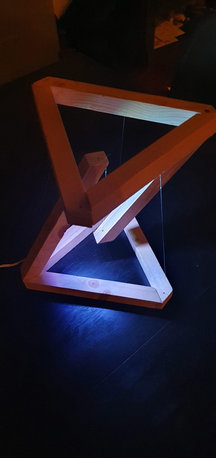 Wooden DIY Tensegrity Lamp with LED 6 - Desk Lamps - iD Lights