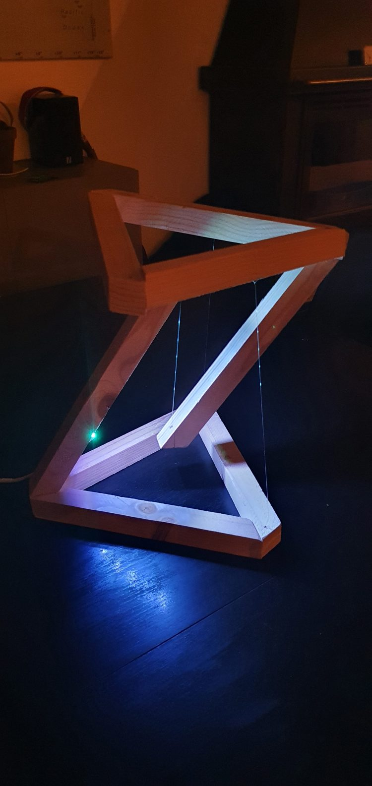 Wooden DIY Tensegrity Lamp with LED 5 - Desk Lamps - iD Lights