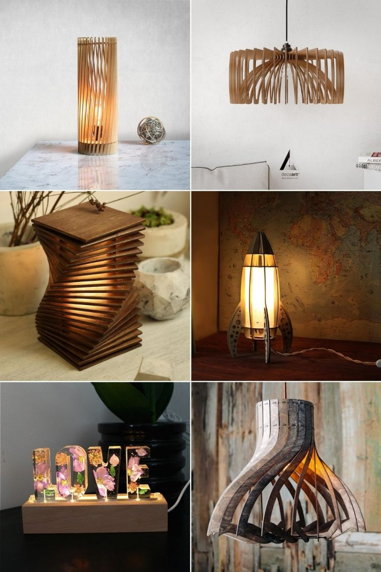 12 Amazing Wooden Lamps Under $100