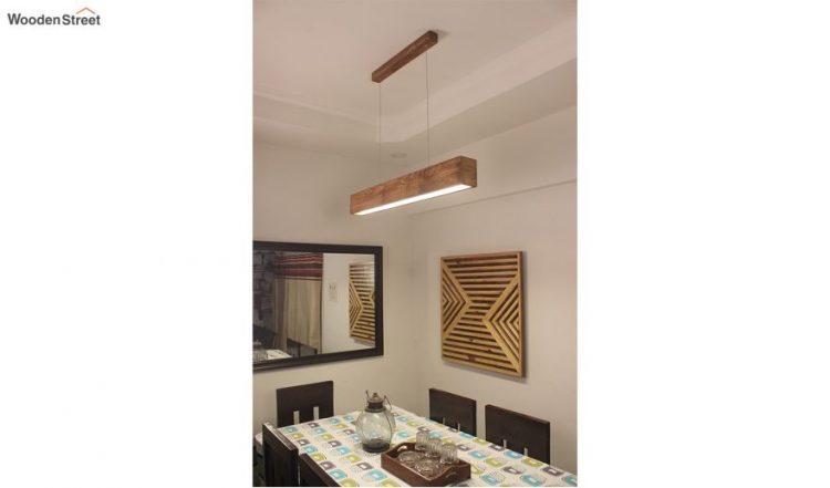 Clara Brown Wooden LED Hanging Lamp