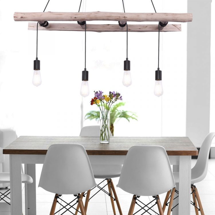 Hanging lamp wooden ladder 3 - Pendant Lighting - iD Lights