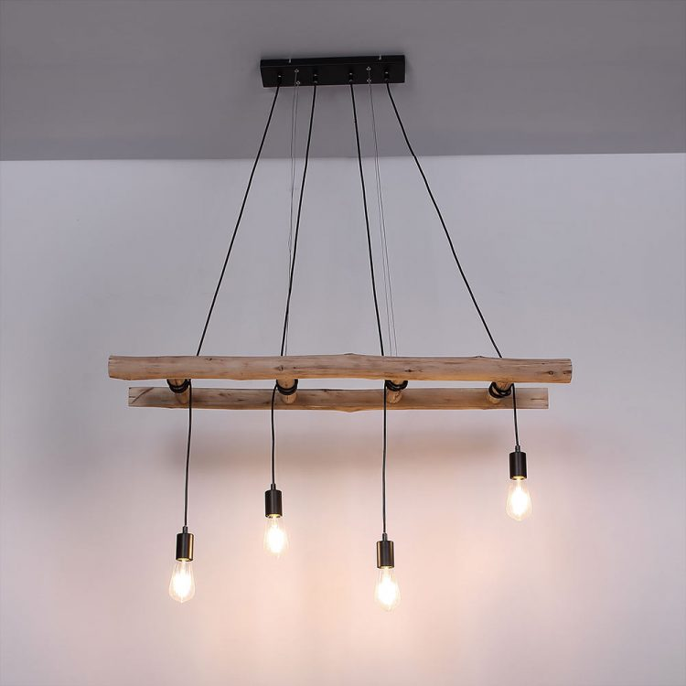 Hanging lamp wooden ladder 2 - Pendant Lighting - iD Lights