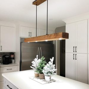 Reclaimed Wood Beam Pendant Spot