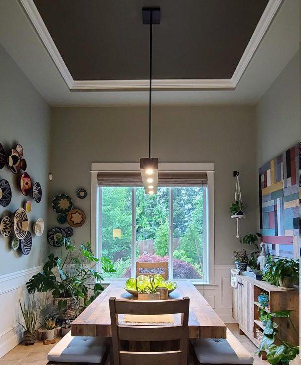Reclaimed Wood Beam Pendant Spot