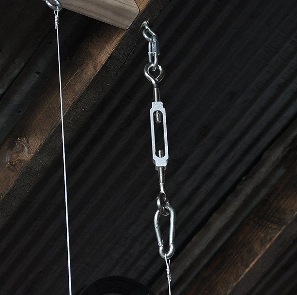 The Farm Beam - Wood Plank Pulley Chandelier 3 - iD Lights
