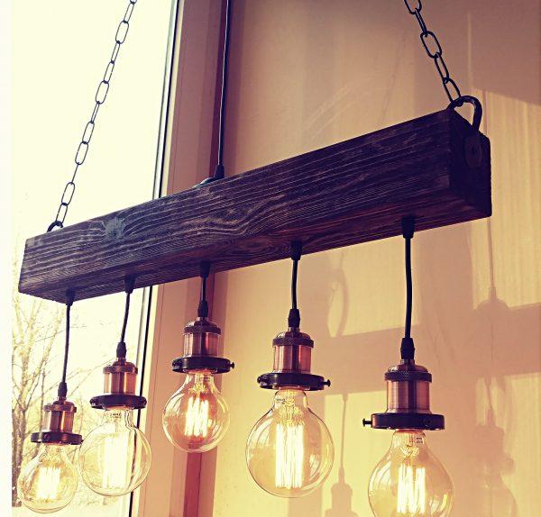 Handmade Beam Chandelier 1 - iD Lights