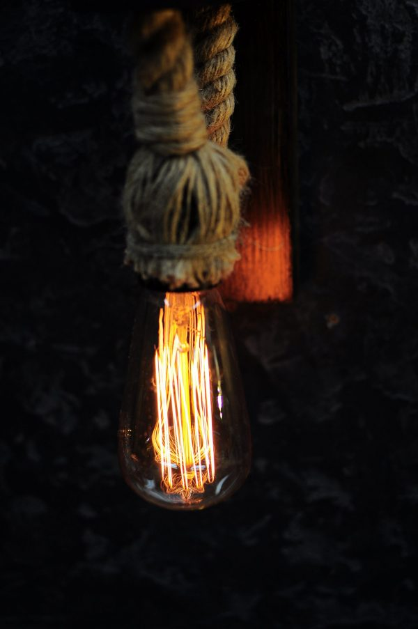 Set of 2 wood lamps with rope cord 6 - iD Lights