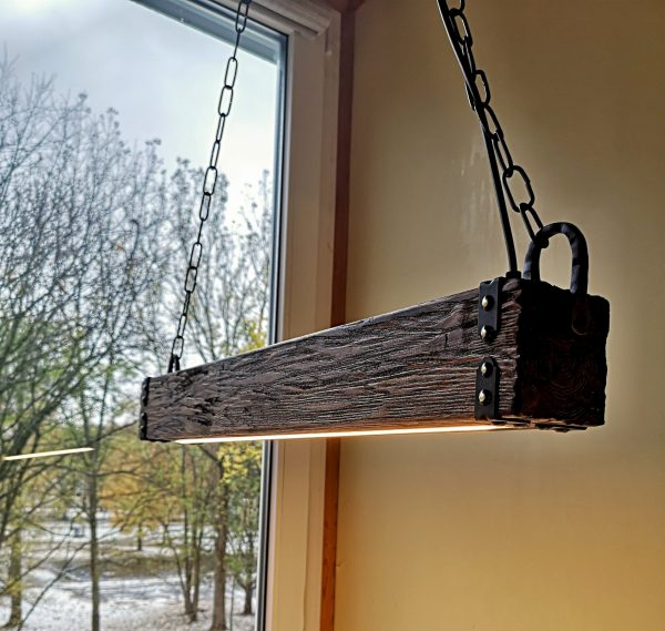 Wood Beam LED Pendant Light 3 - iD Lights