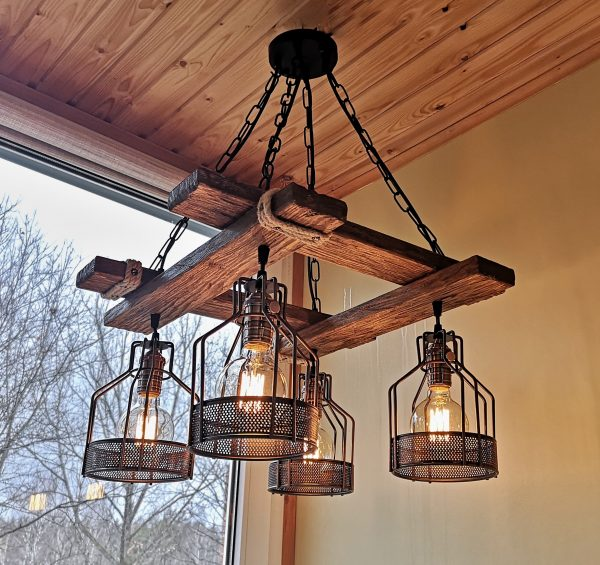 Rustic Light Fixture Hanging Light 1 - iD Lights