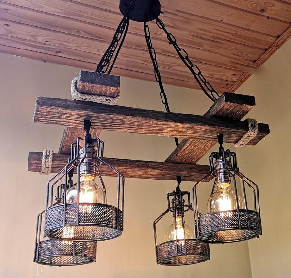 Rustic Light Fixture Hanging Light 6 - iD Lights