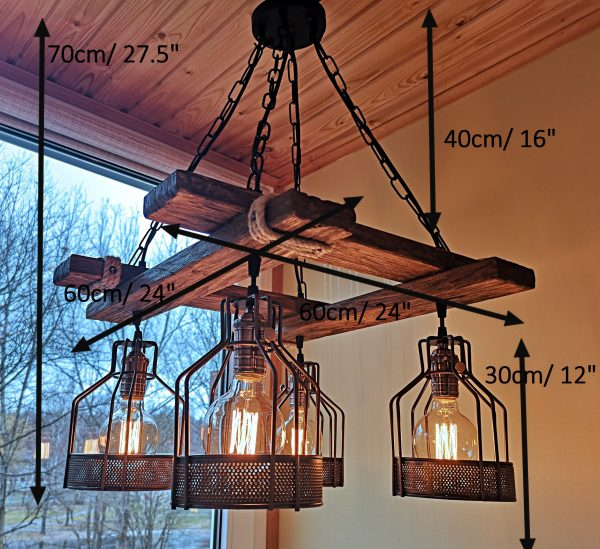 Rustic Light Fixture Hanging Light 9 - iD Lights
