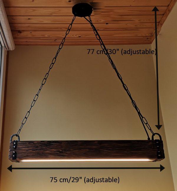 Wood Beam LED Pendant Light 8 - iD Lights