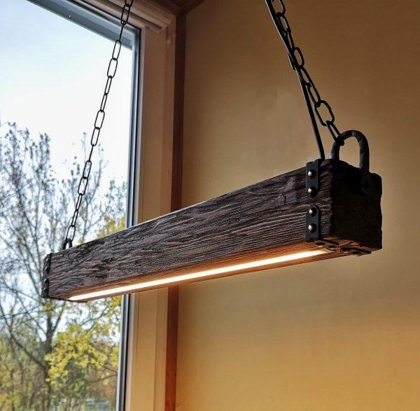 Wood Beam LED Pendant Light 1 - iD Lights