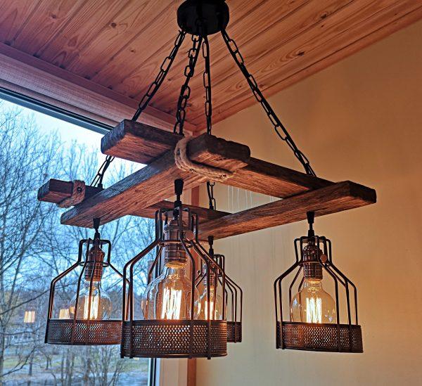 Rustic Light Fixture Hanging Light 5 - iD Lights