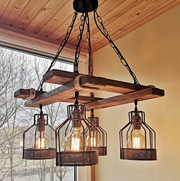 Rustic Light Fixture Hanging Light 2 - iD Lights