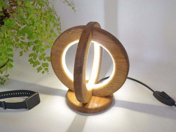 Desk lamp of natural oak 2 - iD Lights