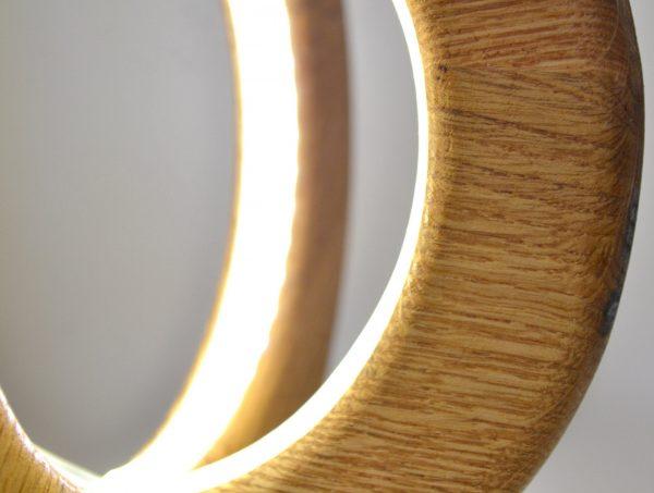 Desk lamp of natural oak 3 - iD Lights