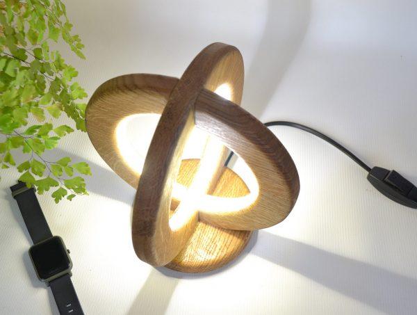 Desk lamp of natural oak 5 - iD Lights