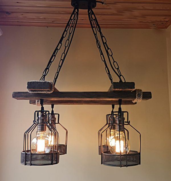 Rustic Light Fixture Hanging Light 8 - iD Lights