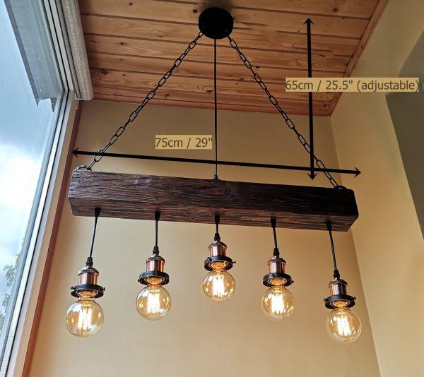 Handmade Beam Chandelier 8 - iD Lights