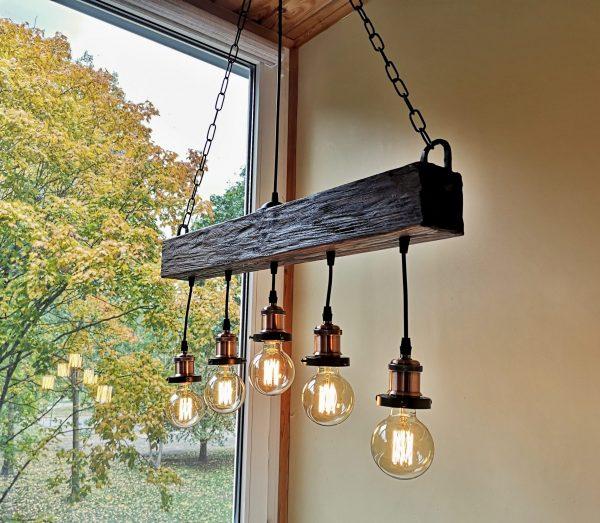 Handmade Beam Chandelier 4 - iD Lights