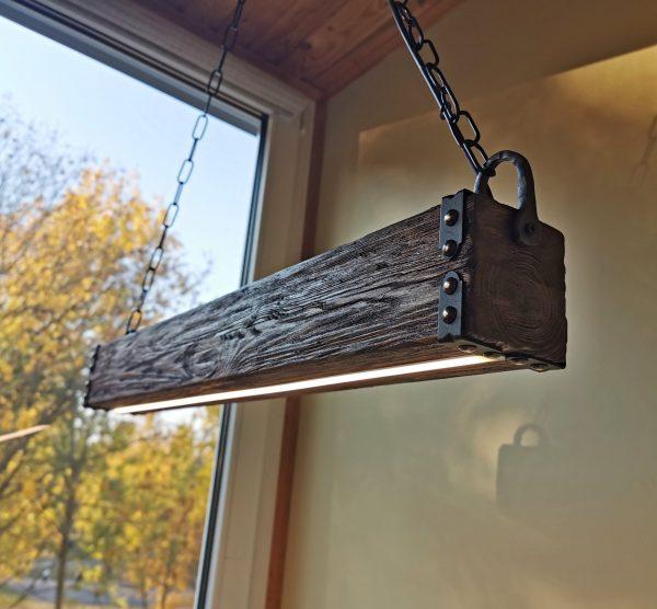 Wood Beam LED Pendant Light 6 - iD Lights
