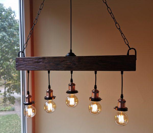 Handmade Beam Chandelier 3 - iD Lights