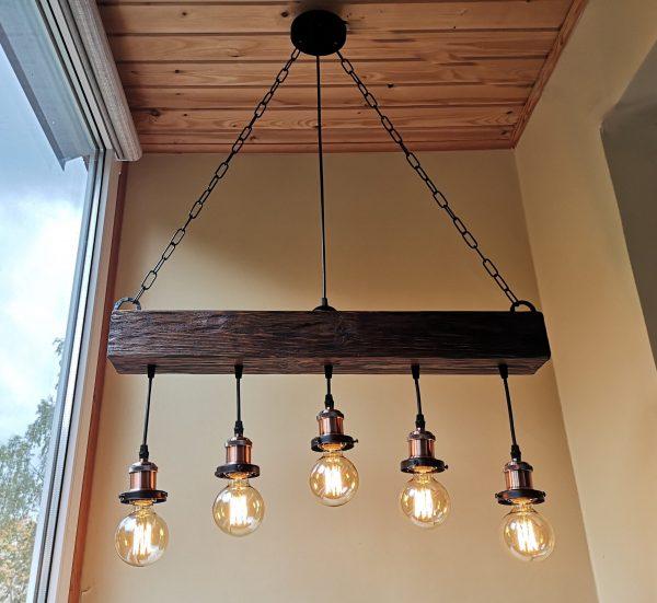 Handmade Beam Chandelier 2 - iD Lights