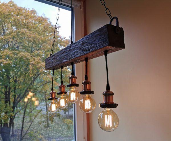 Handmade Beam Chandelier 6 - iD Lights