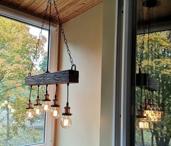 Handmade Beam Chandelier 5 - iD Lights
