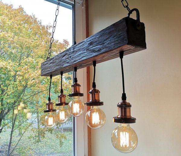 Handmade Beam Chandelier 7 - iD Lights
