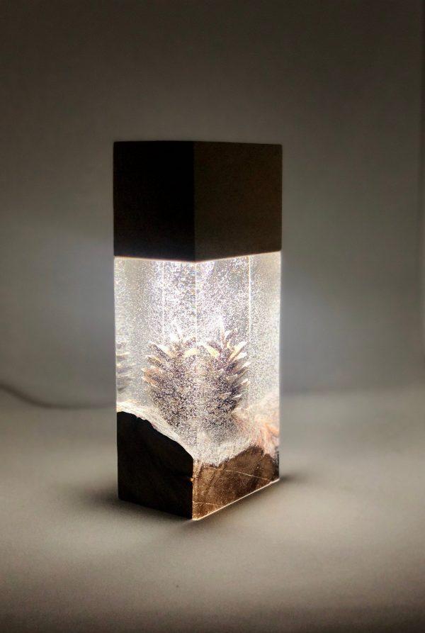 Night Light Epoxy Resin Wood Lamp 2 - iD Lights