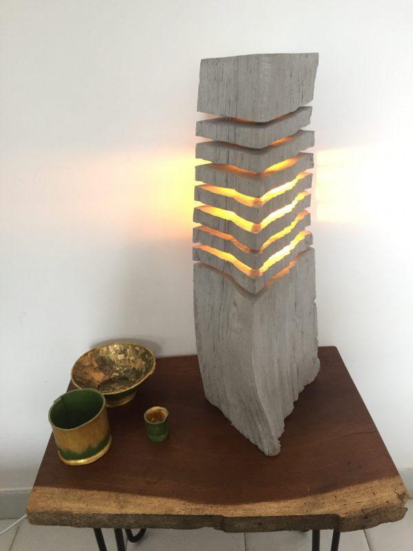 Fragmented wood log lamp 4 - iD Lights