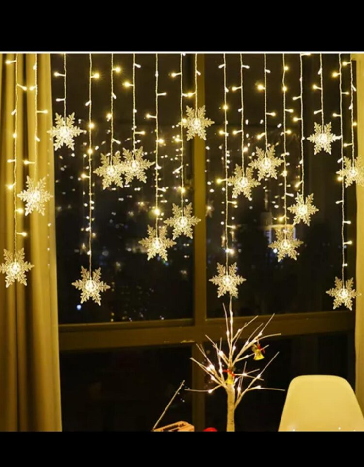 Beautiful Snowflake Led Light Curtain