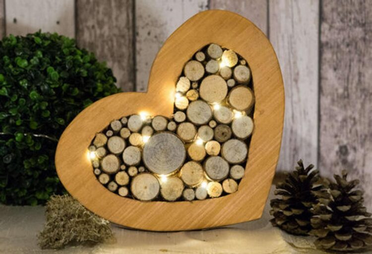 Decorative heart With LED lighting