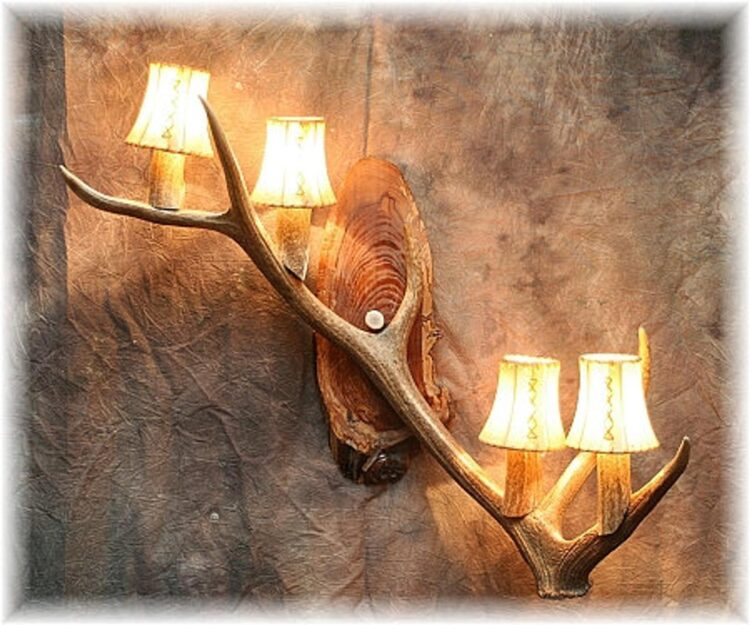 Elk Antler Four Light Sconce