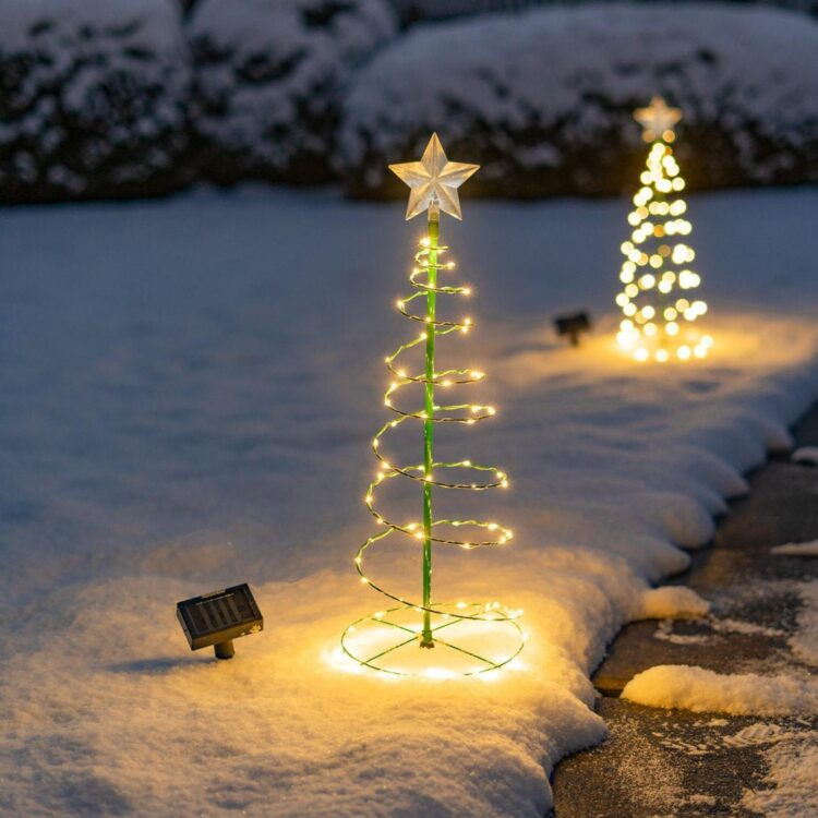 Solar Metal LED Christmas Tree