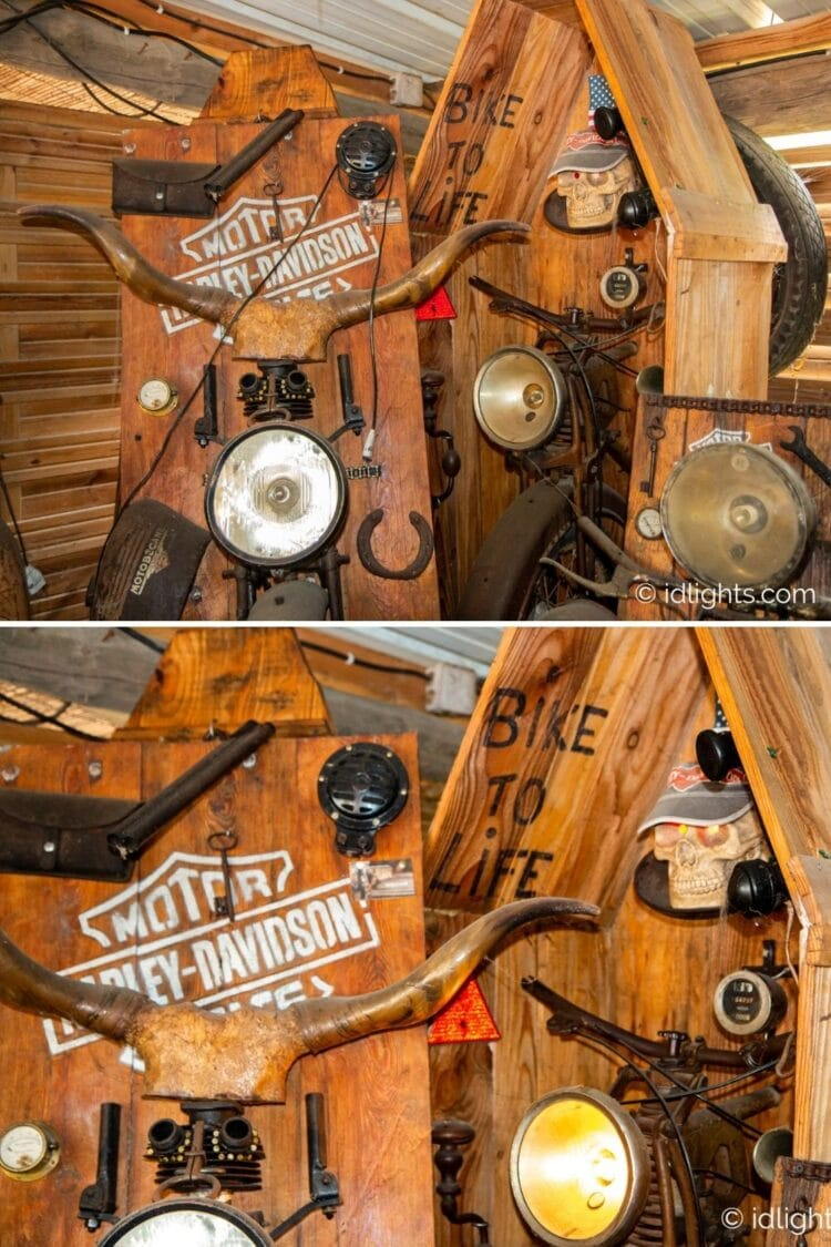 Handmade work of art by Gogus from motorcycle parts and wooden boards 16 - Wall Lamps & Sconces - iD Lights
