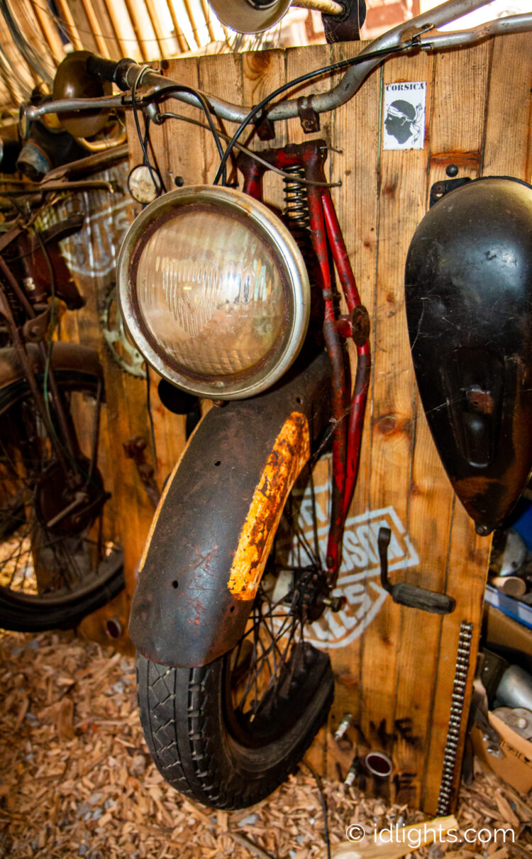 Handmade work of art by Gogus from motorcycle parts and wooden boards 5 - Wall Lamps & Sconces - iD Lights